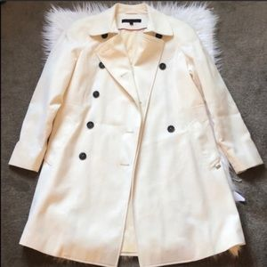 Anne Klein Off White Trench Cost